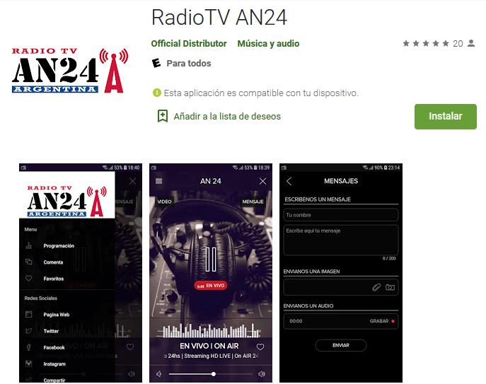 Descargá la app AN24 para Android